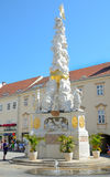 Plague Column in Baden bei Wien, Austria. Royalty Free Stock Image