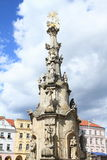 Plague Column in Jindrichuv Hradec Royalty Free Stock Photography