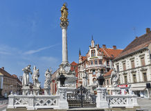 Plague Column in Maribor, Slovenia royalty free stock photo