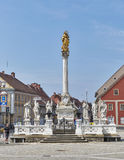 Plague Column in Maribor, Slovenia stock photo