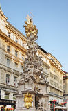 Plague Column (Pestsaule) in Vienna. Austria.  Royalty Free Stock Images