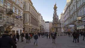Plague Column Pestsaule in Vienna royalty free stock images