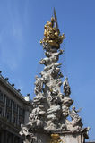 The Plague Column - Pestssaule  on Graben street  in Vienna, Austria. Royalty Free Stock Photos