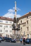 Plague Column in Prague. Stock Photos