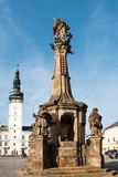 Plague Column in the square in Litovel Royalty Free Stock Photography