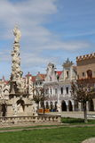 Plague column on Square of peace in Slavonice Stock Images