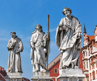 Plague Column statues in Maribor, Slovenia stock photos
