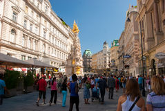 Plague column in Vienna Stock Image