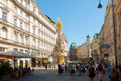 Plague column in Vienna Stock Photo