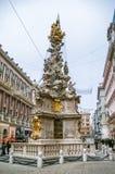 Plague Column in Vienna, Austria. VIENNA, AUSTRIA - JANUARY 04: Plague Column on January 04, 2008 in Vienna, Austria. The column, called the Pestsaule, was Stock Photos