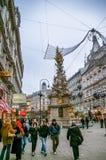 Plague Column in Vienna, Austria Stock Photo