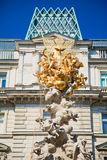 Plague Column in Vienna Stock Image