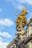 Plague Column, Vienna. Plague Column (Pestsaule) is located on the Graben, a street in the inner city of Vienna and is one of the most well-known and prominent Stock Photos