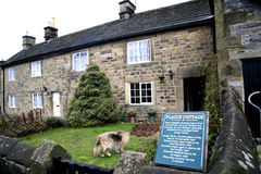 Plague cottage, Eyam, Derbyshire. This cottage is where a parcel of cloth arrived from London, and brought the Bubonic plague to Derbyshire in 1665. The village Royalty Free Stock Image