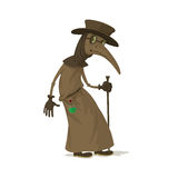 Plague doctor in mask Stock Photography