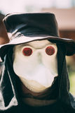 Plague doctor - participant of festival of Stock Photography