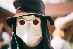 Plague doctor - participant of festival of Stock Image