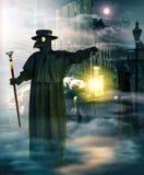 Plague Doctor picking up vitims at night
