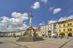 Plague pillar at Namestie SNP. Square at Banska Bystrica Stock Images