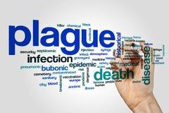 Plague word cloud concept Royalty Free Stock Photos