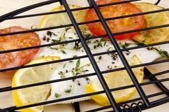 Plaice in a fish grill Stock Photo