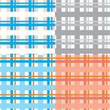 Plaid άνευ ραφής σύνολο ανασκόπησης Στοκ Εικόνες