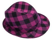 plaid καπέλων hipster Στοκ Φωτογραφία