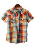 plaid πουκάμισο Στοκ εικόνες με δικαίωμα ελεύθερης χρήσης
