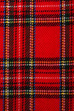 Plaid fabric. Detailed closeup of plaid fabric pattern Stock Photography