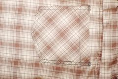 Plaid. Closed up brown Plaid Background Stock Photography