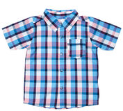 Plaid baby shirt Royalty Free Stock Images