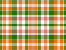 Plaid background. Orange, green and white plaid background Royalty Free Stock Images