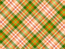 Plaid background. Orange, green and white plaid background Royalty Free Stock Photos