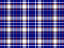 Plaid background. Blue, black and white plaid background Stock Photography