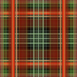 Plaid Background. Red, auburn, green, grey and black plaid background Stock Photo