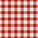 Plaid Background_Red-White Stock Foto's