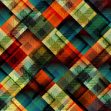 Plaid background. Seamless background pattern. Diagonal plaid with relief effect Stock Photography