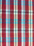 Plaid-Baumwollgewebe des bunten Hintergrundes und der abstrakten Beschaffenheit Stockfoto