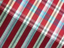 Plaid-Baumwollgewebe des bunten Hintergrundes und der abstrakten Beschaffenheit Stockfotos