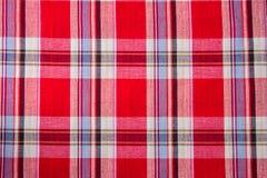 Plaid-Baumwollgewebe des bunten Hintergrundes und der abstrakten Beschaffenheit Lizenzfreie Stockbilder