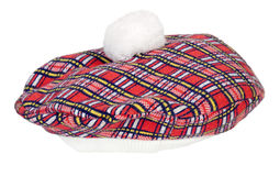 Plaid Beret Stock Photography