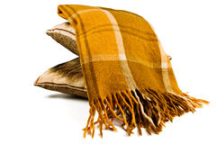 Plaid blanket Stock Image