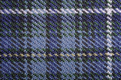 Plaid bleu Photographie stock libre de droits