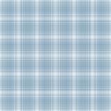 Plaid bleu-clair et blanc sans joint Images libres de droits