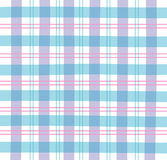 Plaid bleu de guingan Photographie stock libre de droits