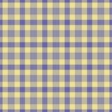 Plaid bleu jaune Images libres de droits