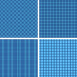 Plaid blue patterns Royalty Free Stock Photos