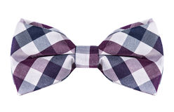 Plaid bow tie Royalty Free Stock Photos