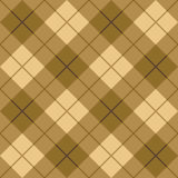 Plaid in Brown und in der Beige Stockfoto