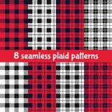 Plaid and Buffalo Check Patterns Stock Image